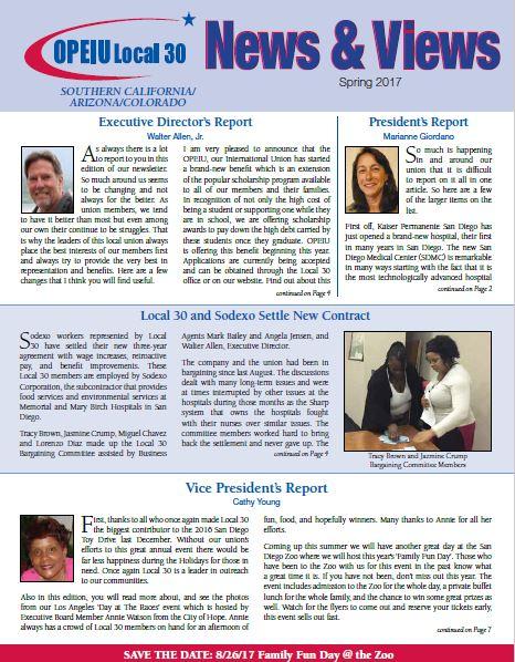 OPEIU Local 30 > Newsletters